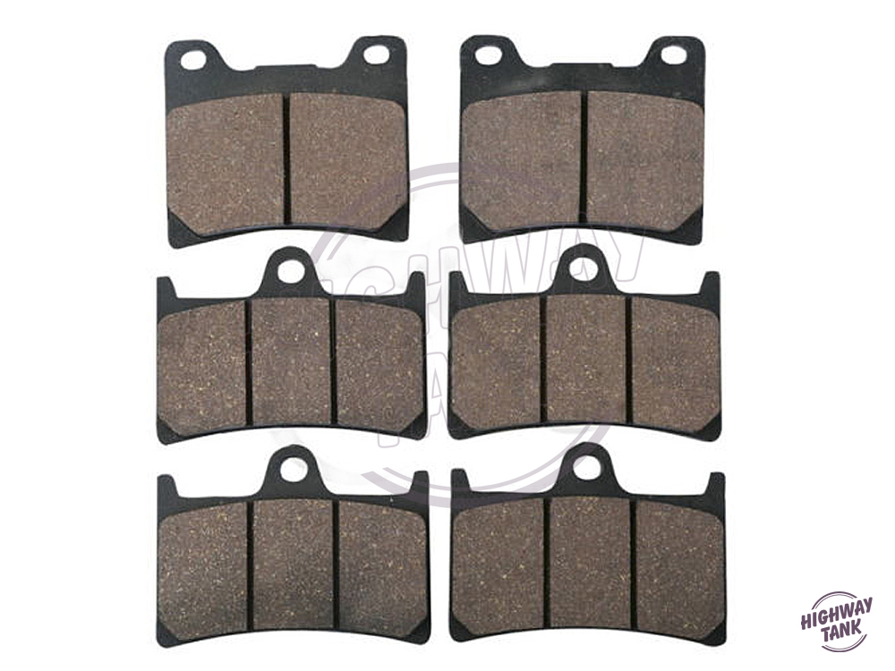 6 Pcs Motorcycle Front Rear Brake Pads case for YAMAHA YZF 1000 THUNDERACE 1996 1997 1998 1999 2000 2001 free shipping motorcycle front and rear brake pads for yamaha fzr 400 fzr400 3en1 1988 brake disc pad
