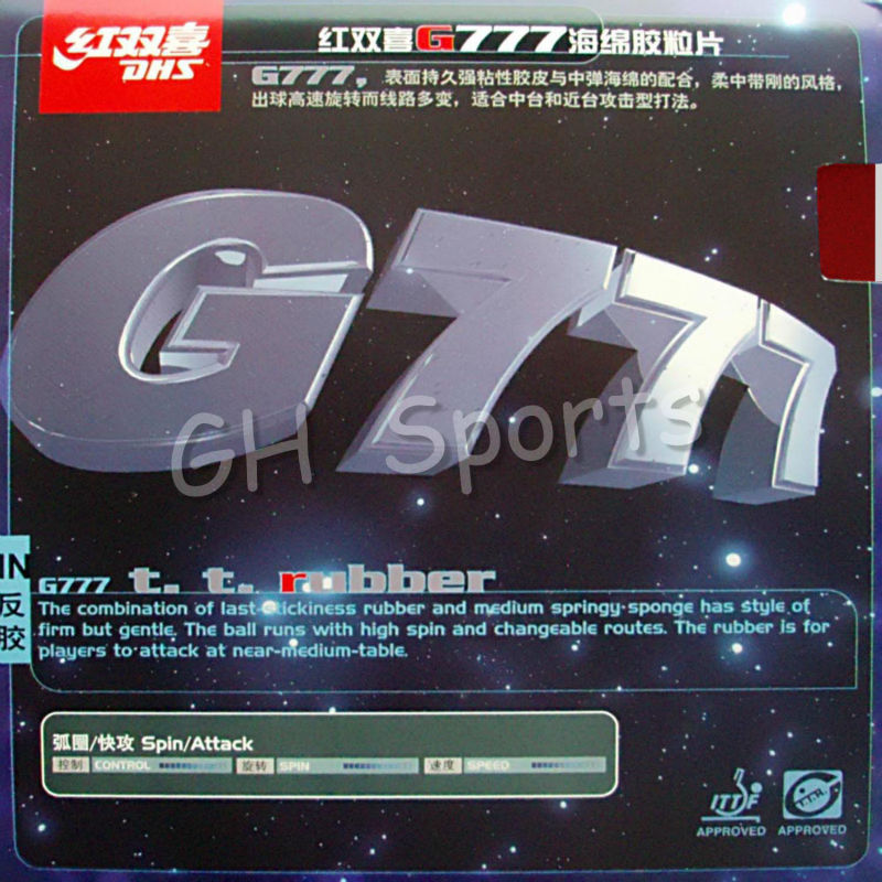 Original DHS G777 Table Tennis Rubber Dhs Table Tennis Racket Indoor Sports Racquet Sports