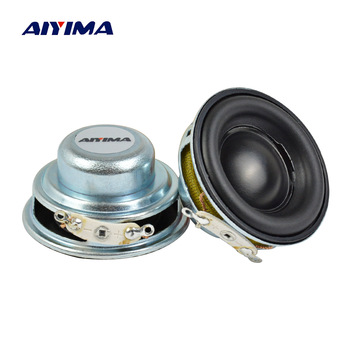 AIYIMA 2pcs 40MM Mini Audio Portable Speakers 16 Core 4Ohm 5W Full Range Speaker Rubber Side NdFeB Magnetic Speaker