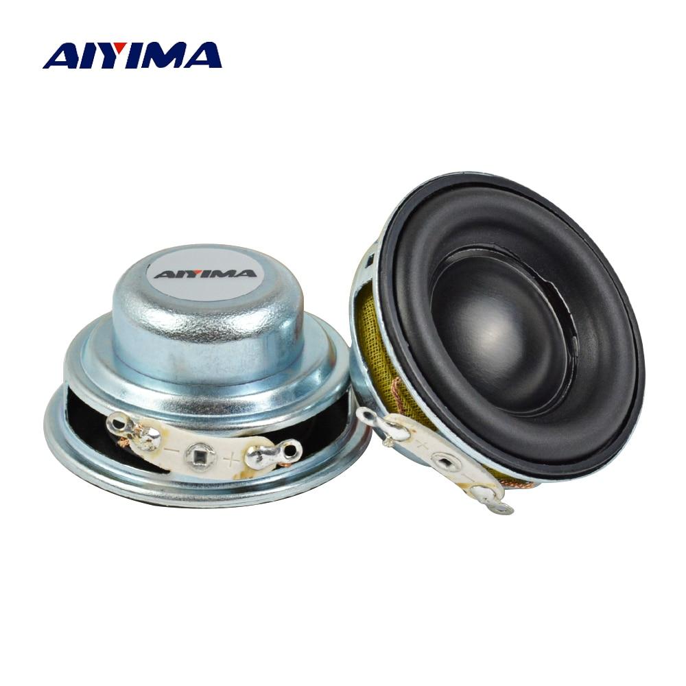 AIYIMA 2Pcs 40MM Mini Audio Portable Speakers 16 Core 4 Ohm 5W Full Range Speaker Rubber Side NdFeB Magnetic Speaker