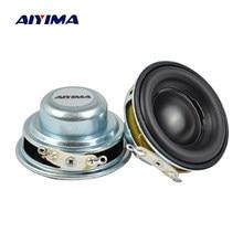 Aiyima 2 pçs 40mm mini alto-falantes portáteis de áudio 16 núcleo 4 ohm 5w alto-falante gama completa de borracha lado ndfeb magnético