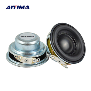 AIYIMA 2Pcs 40MM Mini Audio Portable Speakers 16 Core 4 Ohm 5W Full Range Speaker Rubber Side NdFeB Magnetic Speaker