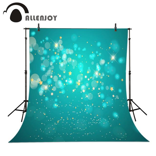 Gwiazda Baby Blue Bokeh Tło Fotograficzne Allenjoy Kropki Wydruku
