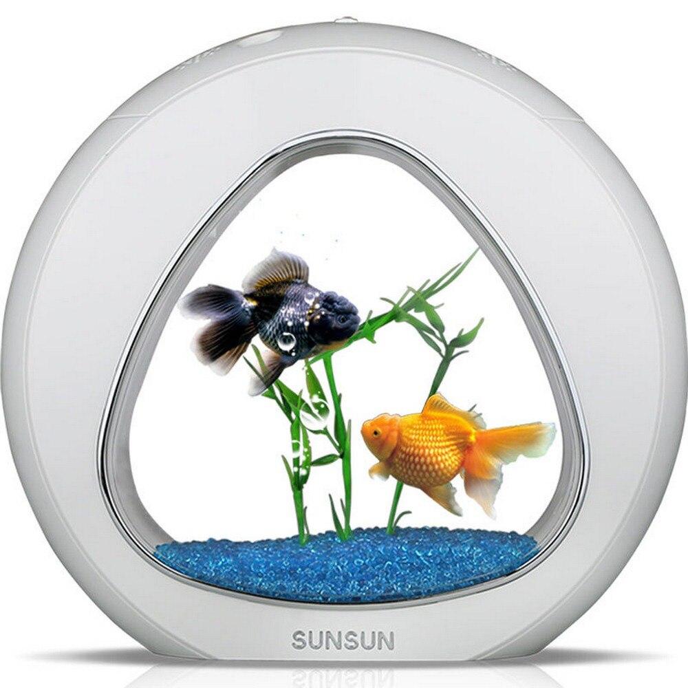 Mini Nano écologie poisson réservoir intégration filtre lumière LED système bureau Aquarium décorations pour la maison USB puissance 4L 110-220 V