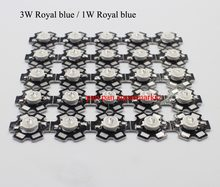 5 10 20 50 100 PCS 1 W 30mil 3 W 34mil 5 W 34mil Epistars Royal Blue 445nm Biru 460nm LED Tanaman Tumbuh Lampu Lampu dengan 20 Mm(China)