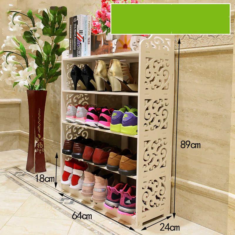 Европейский полый белая стойка для обуви Простой многослойный пылезащитный обувной стеллаж Большой Емкости Обувь шкаф для хранения обуви Органайзер