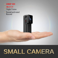 Dingfen Mini Camera with Infrared Night Vision Video Camcorder with voice detection Nanny Cam USB Rechargeable 1080P full HD