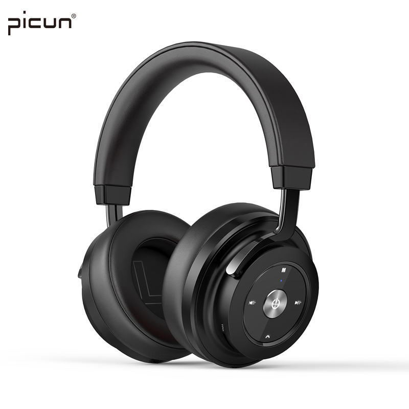Picun Wireless Bluetooth 4.1 Headphone Stereo HiFi Music Headset Super Bass Game Earphone with Microphone For iPhone iPod MP3 TF new metal magnetic wireless bluetooth headphone sport headset hands fress hifi earphone with mic for iphone samsung phones