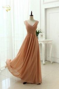 Image 3 - Женское шифоновое вечернее платье, сексуальное длинное платье с V образным вырезом, модель OL3100 по низкой цене, 2020