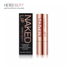 BEST PRICE EVER Brand HERES B2UTY Hot selling Matte Lipstick Waterproof Long lasting Lip gloss Freeshipping
