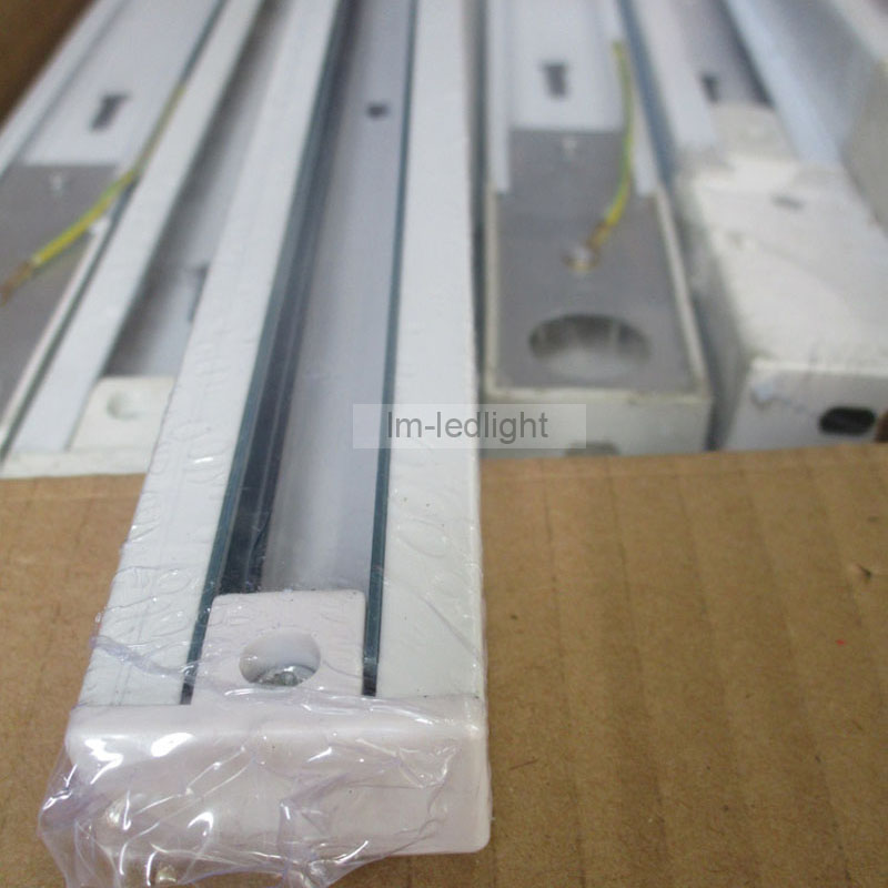 1m LED track light rail in white and black Universal 2 wire rail ...