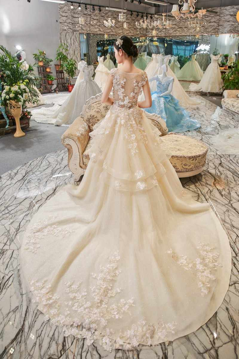 LS00406 koronkowa suknia ślubna abiti da sposa suknia dla panny młodej bruidsjurken vestido casamento szata de mariage 2017 hochzeitskleid abiye