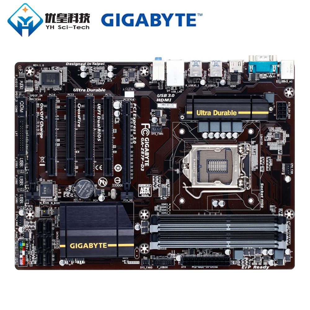 Original Used Desktop Motherboard Gigabyte GA-Z87P-D3 Z87 LGA 1150 Core I7 I5 I3 DDR3 32G SATA3 USB3.0 HDMI PCI-E 3.0 ATX