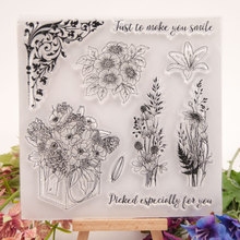 Different Beautiful Plants Rubber Clear Stamps Silicone Seals for DIY Scrapbooking Cards Making Book Paper Maker Decor Stencil