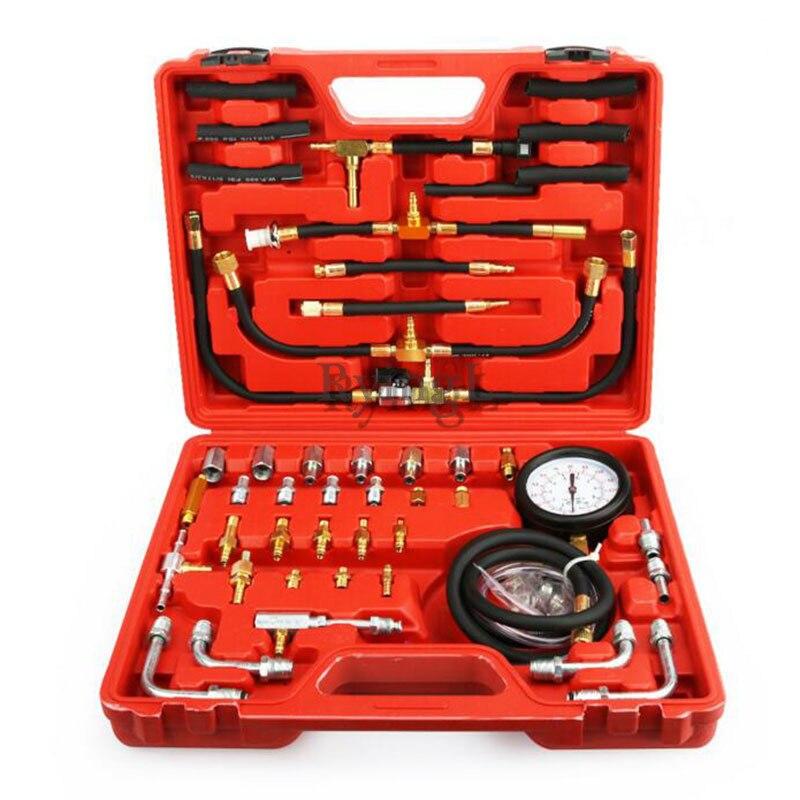 TU-443 voiture carburant Diesel testeur de pression jauge 42 pièces Kit de capteur universel Auto manomètre moteur test carburant pompe d'injection 0-140
