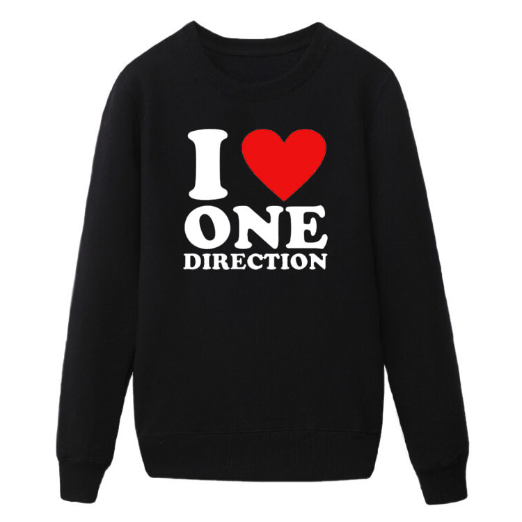 2016 HOT SALE Autumn Fashion Mens Sweatshirts i love one direction rock and roll Men Hoodies streetwear Cotton Hip Hop