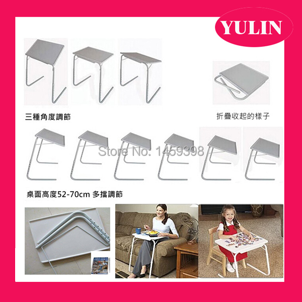 Elegant ... Wood Material PINK COLOR Portable Table Mate Bed Mate Table Tray Folding  Table For Bed ...