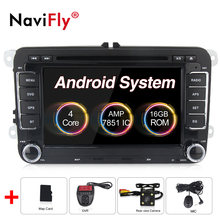 Germany warehouses! Android 8.0 Car dvd radio for VW polo golf passat tiguan skoda yeti superb rapid GPS Navigation RDS WIFI BT(China)