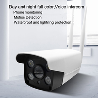 HD Outdoor WiFi IP Cameras with Night Vision,Waterproof dual light source high definition night vision full color wireless gun.