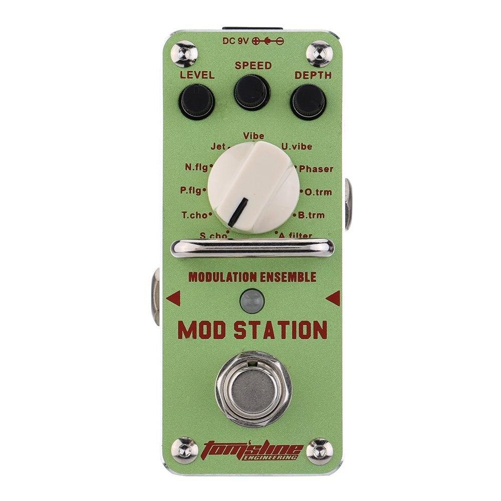 ARÔME AMS-2 Guitare Pédale D'effet Mod Station Modulation Ensemble Électrique Guitare Pédale D'effet Mini Unique Effet avec True Bypass