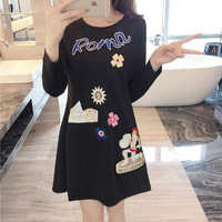 Plus Size XL 5XL 2016 Women S Autumn New Korean Version Fashion Applique Slim Was Thin