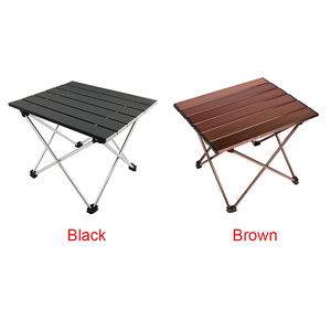 Image 3 - Outdoor Portable Lightweight Aluminium Alloy Desk Mini Easy Clean Waterproof Multiuse Camping Folding Table Hard Topped Durable