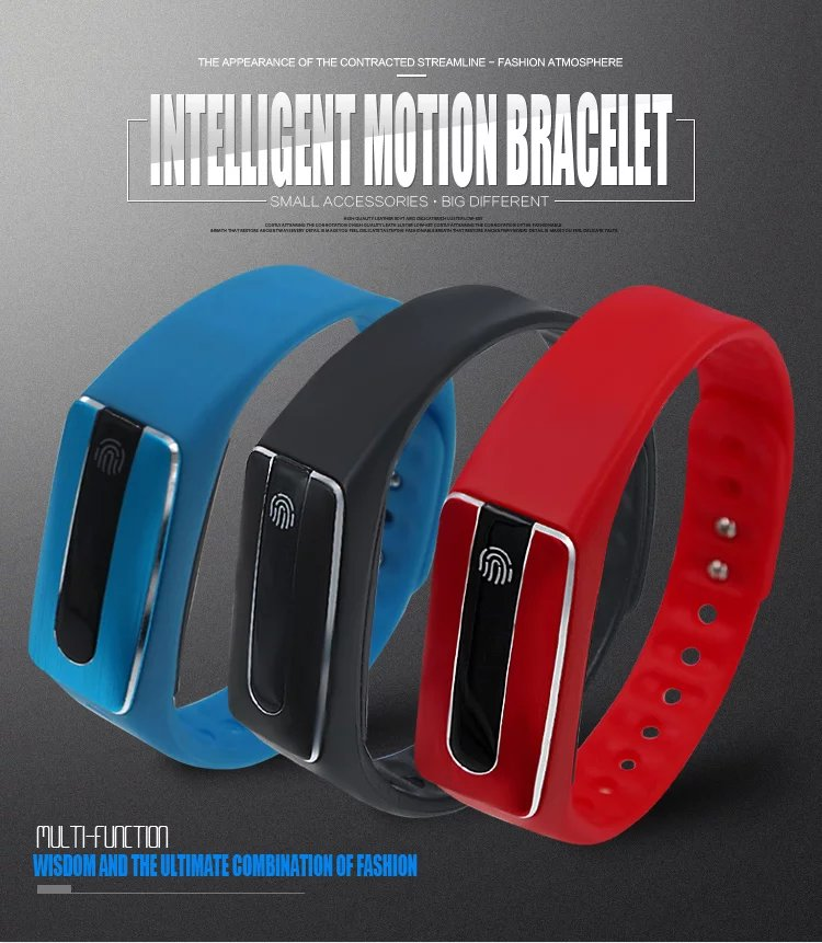 все цены на In Stock!!! New Original  Wristband Bracelet with Smart Heart Rate Fitness Touchpad OLED Screen 2016!!! онлайн