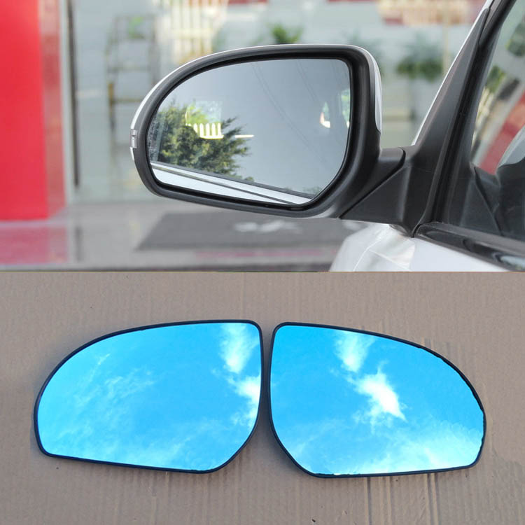 Savanini 2pcs New Power Heated w/Turn Signal Side View Mirror Blue Glasses For Kia K2