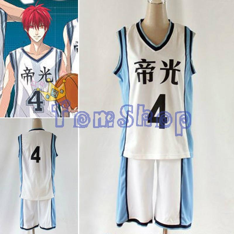 Куроко Баскетбол куроко Нет Basuke Teiko школы PG #4 Акаси Seijuro Баскетбол Джерси аниме-шоу Хэллоуин Косплэй костюм