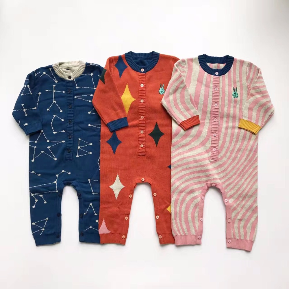 ins 2017 spring autumn BOBO CHOSES ROMPERS BABY BOY CLOTHES BABY GIRL CLOTHES VETEMENT BABY ROMPERS