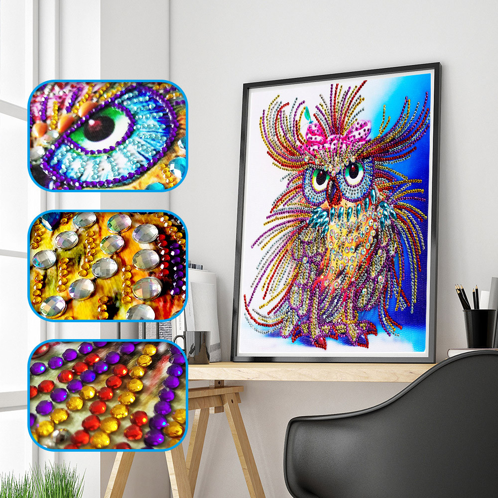 Animals DIY 5D Special Shaped Diamond Painting Embroidery Cross Stitch Kits