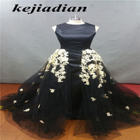 Vestido De Festa Dubai Saudi Arabia Custom Made New Arrival Black Lace And Beading Ball Gown