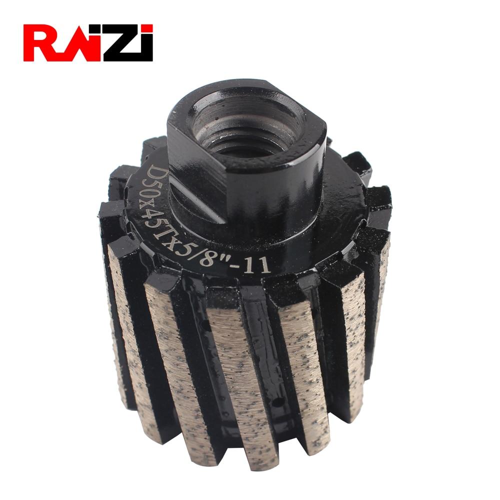 Raizi 2 Inch/50 Mm Metal Bond Diamond Drum Wheel Zero Tolerance Segmented Coarse Grinding Wheel For Granit Marble Stone