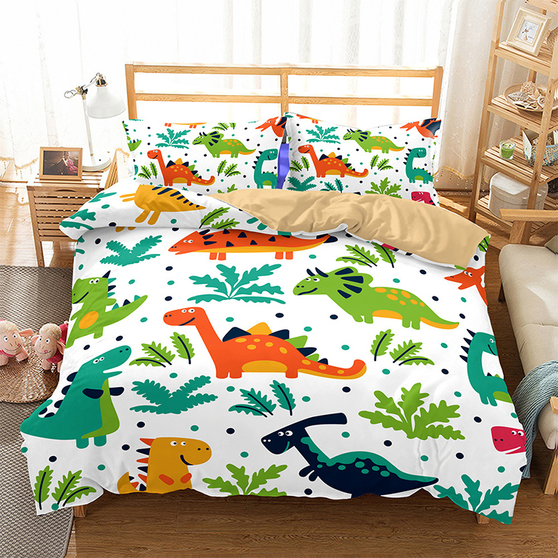 Dinosaur Bedding Set 3d Kids Bed Linen Blue White Children King Queen Double Full Twin Single Size Duvet Cover Set Bedclothes Bedding Sets Aliexpress