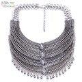 3 cores new hot sale z de metal cadeia de moda colar colar de metal colares & pingentes declaração choker colares para as mulheres