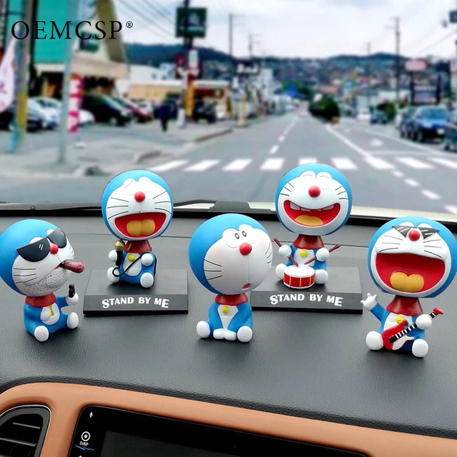 Auto Ornament Accessories Car Dashboard Ornament Decoration Very Cute Doll Shake Head Cigar Cat Toys Smoke Styling Creative Gift