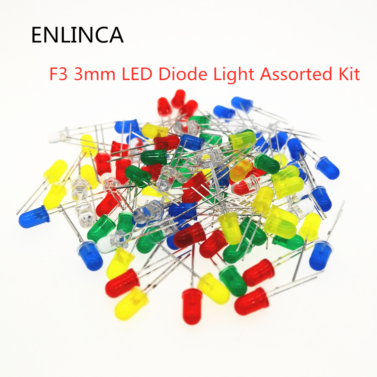 100pcs/lot F3 3MM Round Green Yellow Blue White Red Orange LED Light COMPONENT Diode DIY Kit Purple Pink Jade Green Warm White
