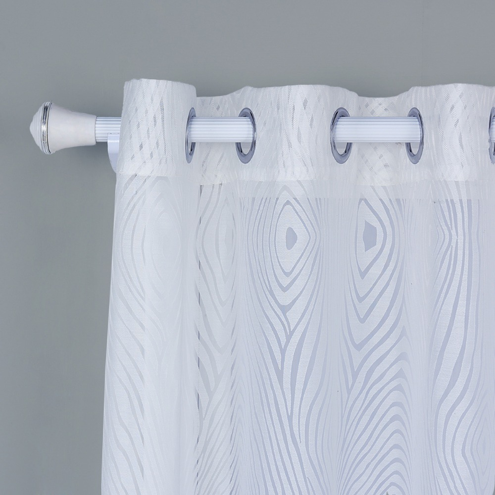 White Annual Rings Tulle Curtains Modern Curtains For Living Room ...