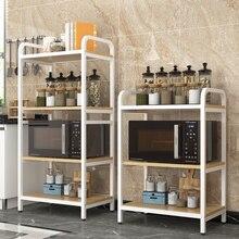 Edelstahl Küche Mikrowelle Gepäck Träger Küche Insel Küche Lagerung  Veranstalter Schrank Rack(China)