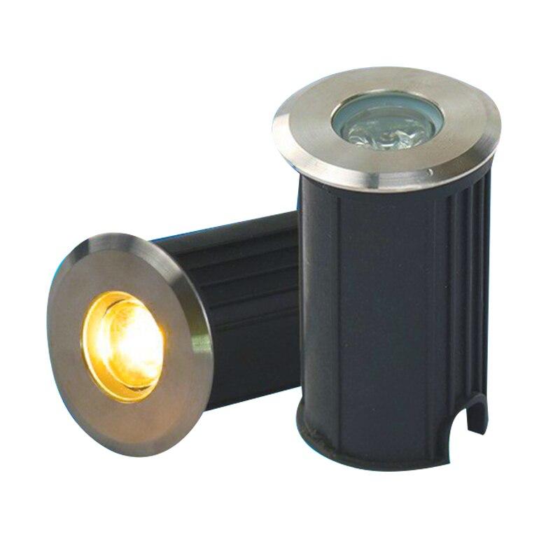 IP68 3 واط 1 واط LED إضاءة تحت الأرض الأرض حديقة مسار مصباح أرضي في الهواء الطلق تحت الأرض دفن مصباح للفناء مصابيح إضاءة للمناظر الطبيعية 85-265 فولت ...