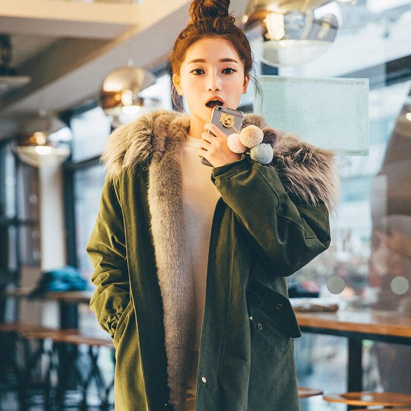 À Inverno Feminino 2018 Capuche Manteaux Amy Ayunsue Nouveau Lx1190 Jaqueta De Femme Casaco Coton Épaisse Green Veste Feminina Ouatée Parkas Outwear gaTwa