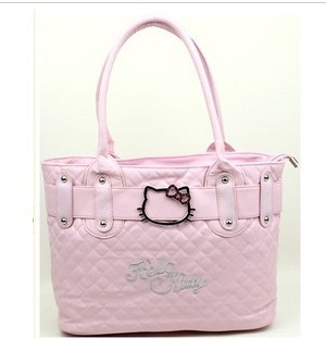 2017 Hot New Hello Kitty Bags Classic Tote Purse Handbag Black Handbags