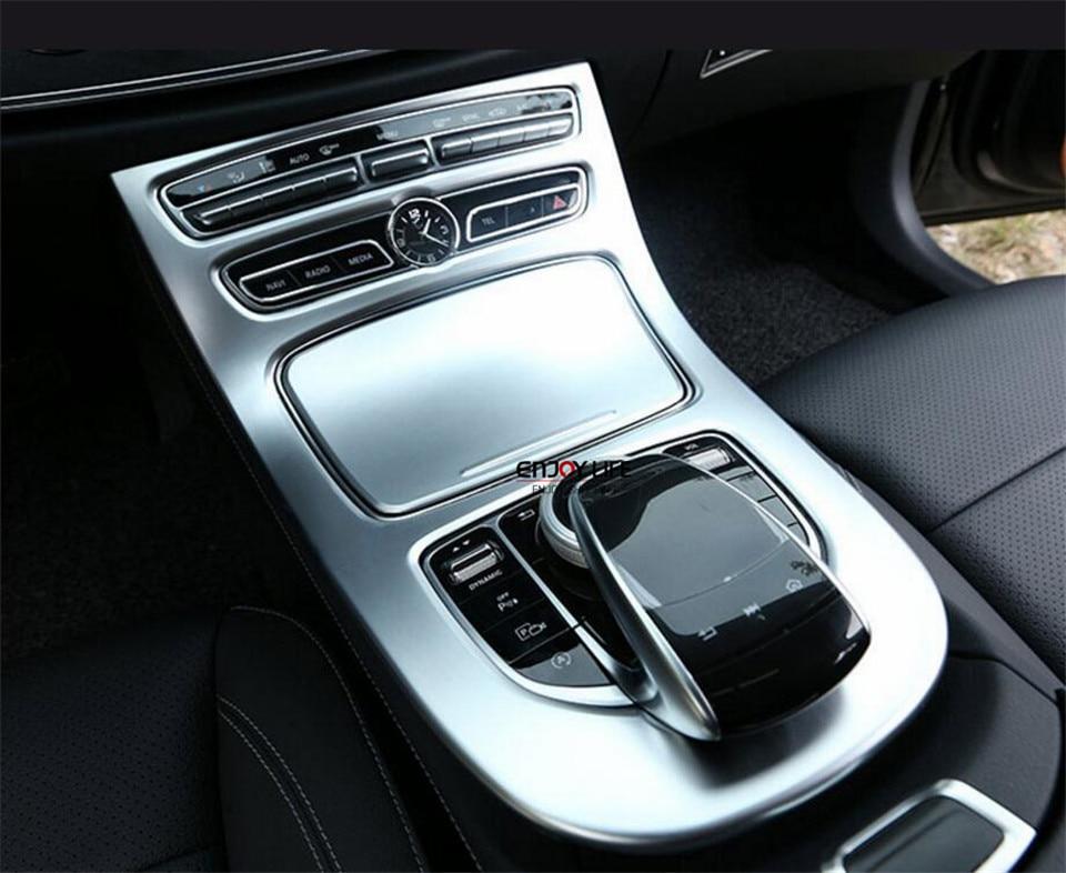 2pcs/set Central Console Gear Shift Box Panel Cover Trim For Mercedes Benz W213 E Class E200 E300 E400 2016 20172pcs/set Central Console Gear Shift Box Panel Cover Trim For Mercedes Benz W213 E Class E200 E300 E400 2016 2017