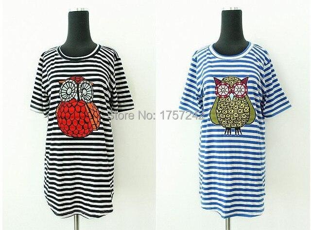 2015 fashion woman owl T-shirt 100% Lycra cotton Women's leisure jacket S-3XL Free shipping