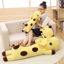 5 different colors Plush Lie Giraffe Pillow Staffed Deer Plush Toy Nap Pillow Christmas Gift 1pc super cute injustice cat plush toy staffed plush pillow birthday gift high quality