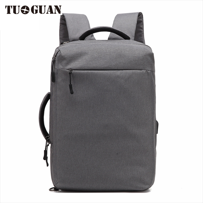 TUGUAN Fashion Men Anti Theft Laptop Backpack School Travel Originality Back pack for Male Boy Waterproof USB Charging Bags vkingvsix usb waterproof school bags for teenagers 14 17 inch laptop backpack men women boy travel back pack bagpack mochila