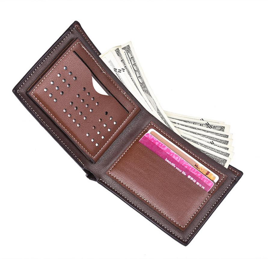 MOLAVE Wallets Wallet Male Solid CardHolder PU Leather Man Embossing Wallet Pocket Credit CardClutch Bifold PUrse May29