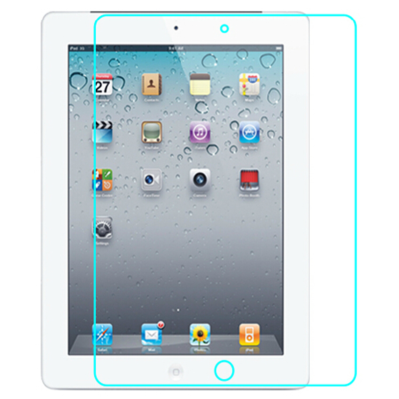 Explosion-Proof Premium 2.5D Crystal Clear Tempered-Glass Screen Protector For IPad 2 3 4 Protective Film 9H