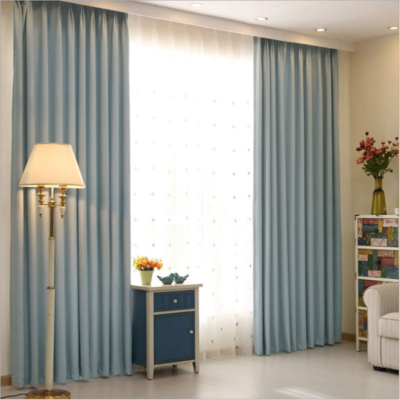 Hotel curtains blackout living room solid color home window treatments modern bedroom curtains drapes for sale single panel in curtains from home garden