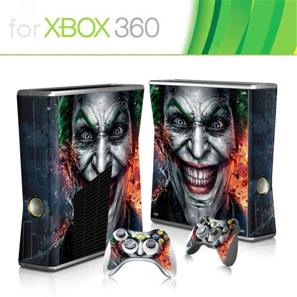 Protetor de vinil para xbox, venda quente de protetor de jogo para microsoft xbox 360 slim e 2 skins adesivos para console x box 360